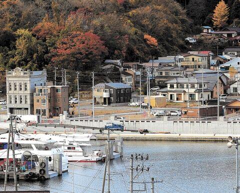 気仙沼市魚町の防潮堤