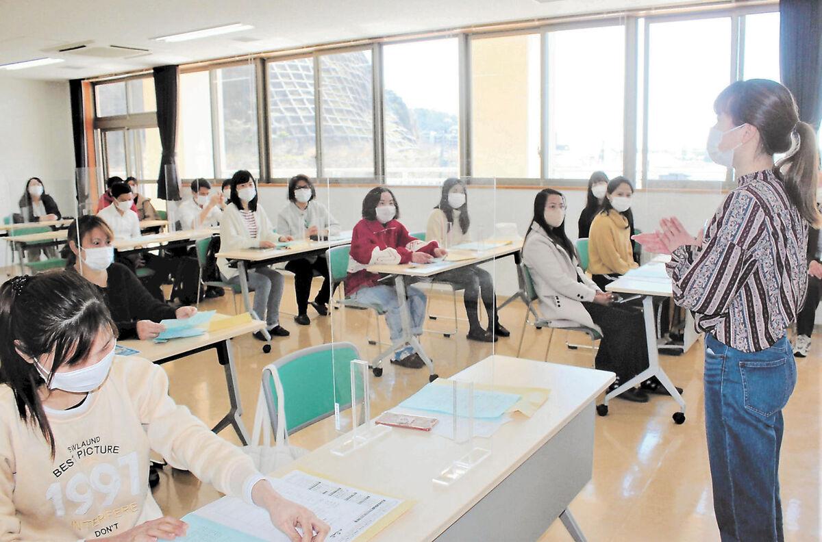 技能実習生ら21人、楽しく日本語学習 石巻・みなと荘教場 | 河北新報オンラインニュース